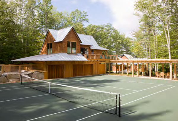 Retreat in the Maine Woods tennis court