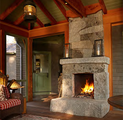 Sargentville Residence Fireplace
